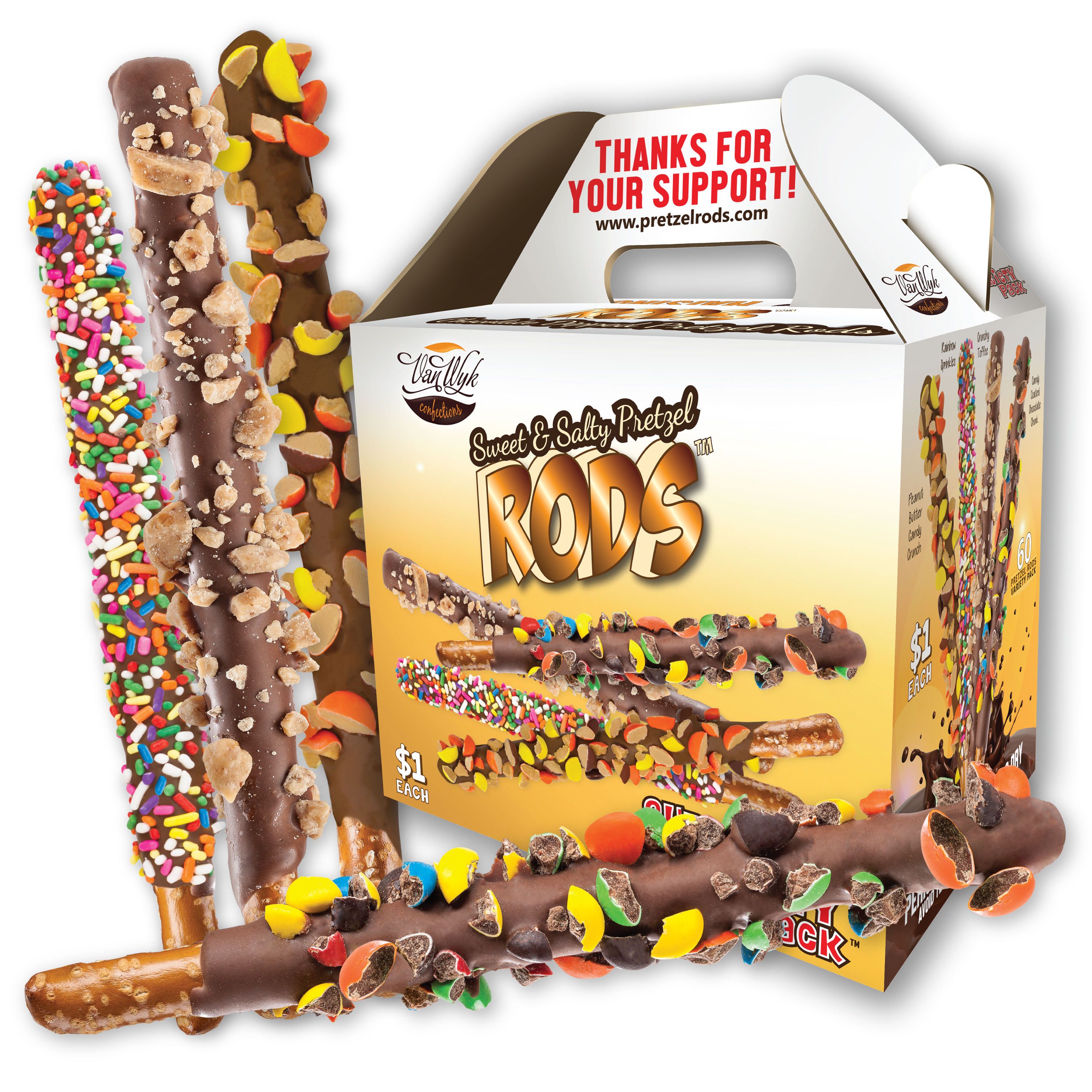 Pretzel Rods fundraising